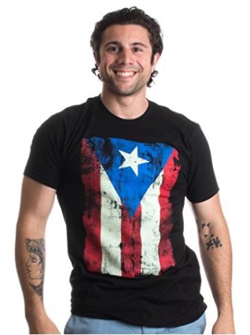 camisa con la bandera de puerto rico