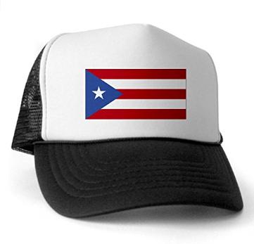 CafePress – Puerto Rico Flag Trucker Hat – Trucker Hat, Classic Baseball Hat, Unique Trucker Cap