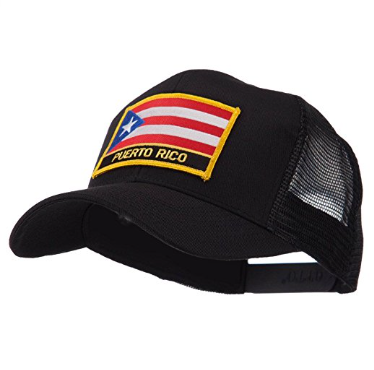 North and South America Flag Letter Patched Mesh Cap – Puerto Rico W42S52F