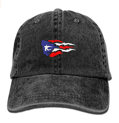 ONE-HEART HR Puerto Rico Flag Creative Baseball Caps Denim Adjustable Hats