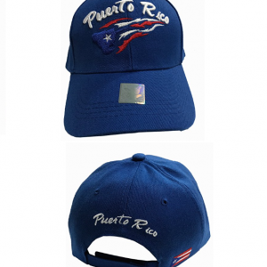 Gorra azul con la bandera de Puerto Rico 9f55afb8cb0