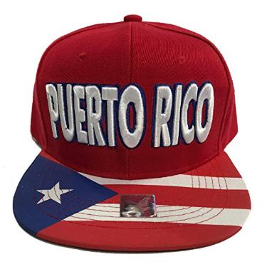 Puerto Rico Baseball Cap Red Color