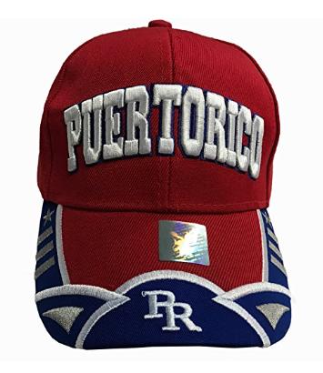 Puerto Rico Baseball Cap Red PR