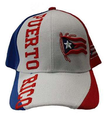 Puerto Rico Baseball Cap White Puerto Rico Flag