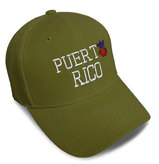 Baseball Cap Puerto Rico Frog A Embroidery Acrylic Dad Hats for Men & Women