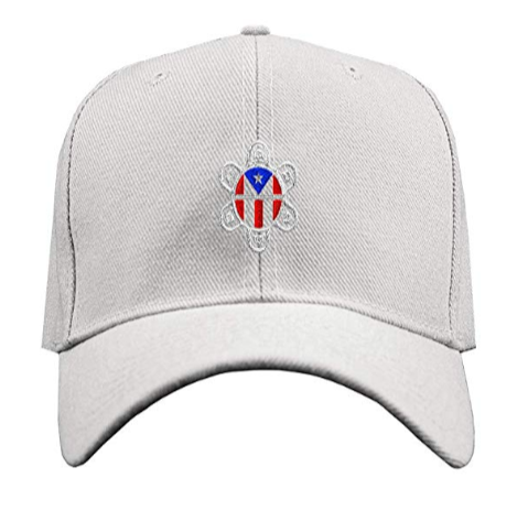 Custom Baseball Cap Puerto Rico Flag Sol Taino A Embroidery Strap Closure
