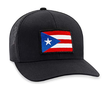 Puerto Rico Flag Hat – Trucker Mesh Snapback Baseball Cap