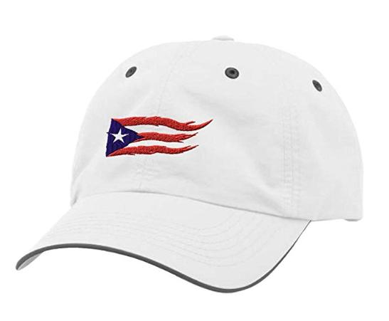 Puerto Rico Flame Flag On Black Sewed Richardson