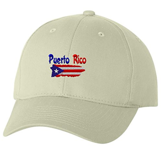 Unlimited Embroidery Puerto Rico Country Outline Flag Custom Embroidery